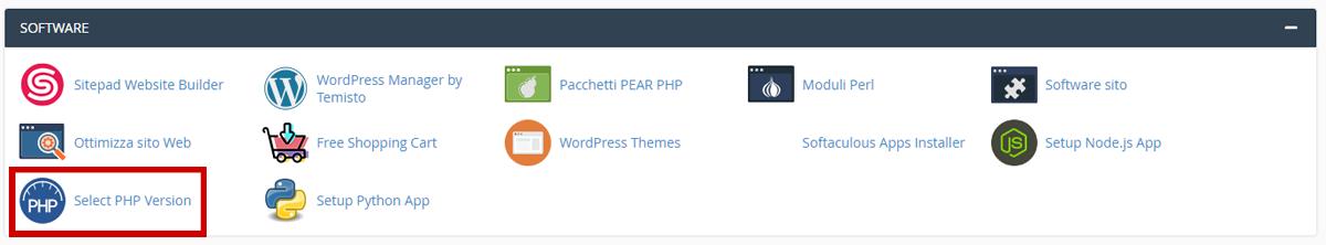 PHP Selector per variare le configurazioni PHP